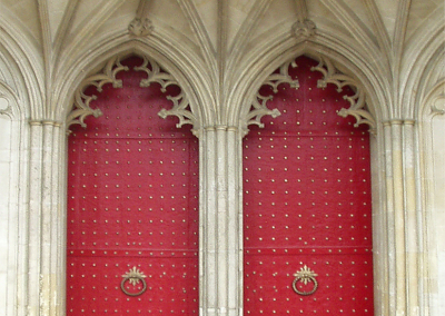 Back Doors of Winchester Cathedral © Adrienne Fritze - A's Englan